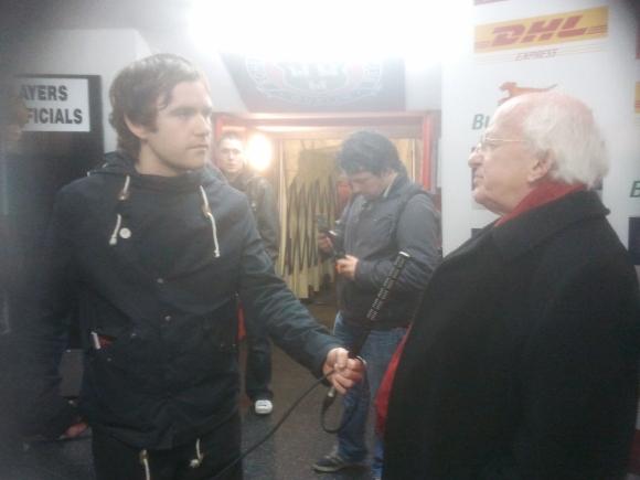 Andy Donlan with Irish President, Michael D. Higgins